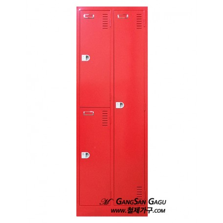 MIX옷장 2x6 - 3인용 (빨강)