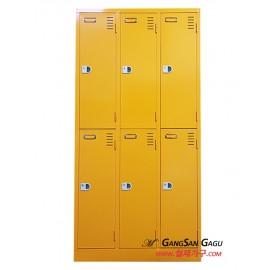 옷장 3x6 - 6인용 (노랑)